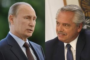 Vladimir Putin, presidente de la Federación Rusa, llamó por teléfono a Alberto Fernández para interiorizarse sobre su estado de salud ya enterado de que el Presidente transita un cuadro leve de covid.