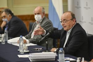 El diputado Leopoldo Moreau y el senador Oscar Parrilli, integrantes de la comisión Bicameral de Inteligencia (Fuente: NA)