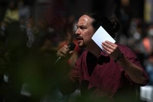 Pablo Iglesias encabeza la lista de Unidas Podemos en Madrid. (Fuente: AFP)