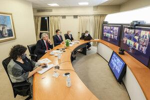 Desde la Quinta de Olivos, el Jefe de Estado dialogó con los mandatarios provinciales.