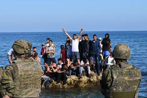 La tragedia de los migrantes perseguidos. (Fuente: AFP)
