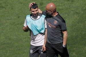 Agüero y Guardiola cuando trabajaban juntos (Fuente: EFE)
