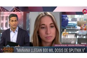 Cecilia Nicolini cuenta la otra cara del escándalo Pfizer. (Fuente: Foto Fuego Amigo, Canal 9)
