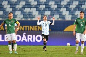 Messi volvió a brillar en la noche de su récord de presentaciones (Fuente: AFP)