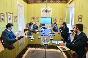 Los ministros de áreas técnicas, en el encuentro en el Salón de los Científicos. (Fuente: Jefatura de Gabinete)
