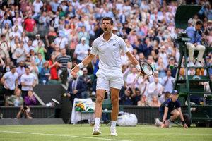 El festejo de Novak Djokovic, que irá por su vigésimo Grand Slam el domingo (Fuente: AFP)