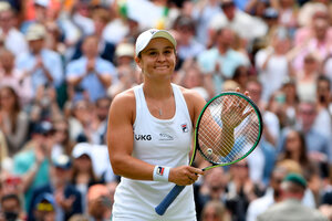 Ashleigh Barty, la número uno del mundo, busca su primer título en Wimbledon (Fuente: AFP)
