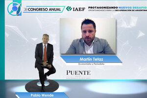 Tetaz habló hace pocas semanas en el Congreso del Instituto Argentino de Ejecutivos de Finanzas. (Fuente: NA)