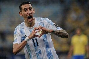 Ángel Di María hizo un golazo para poner en ventaja a Argentina 1-0 ante Brasil en la final de la Copa América.