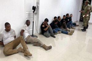 Los militares colombianos detenidos en Haití (Fuente: AFP)