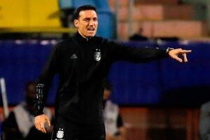 El entrenador del seleccionado argentino Lionel Scaloni (Fuente: EFE)