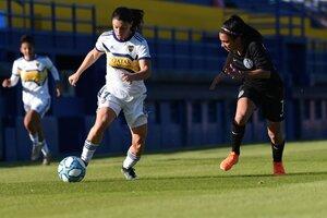 Carolina Troncoso y Florencia Coronel, durante el empate del Apertura (Fuente: Foto Prensa Boca)