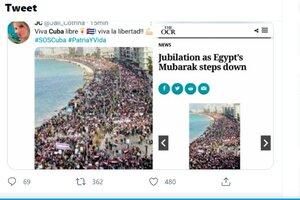 Las fake news con etiqueta #SOSCuba fueron parte de la campaña.