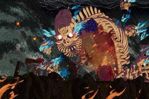 El diseño visual de los niveles y enemigos es excepcional en este roguelite donde cada vez que morís, empezás de vuelta (Fuente: GetsuFumaDen: Undying Moon | Prensa)