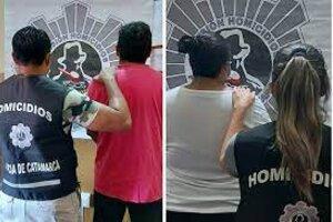 El día de la detención de Enzo Morales y Cintia Soledad Bazán.