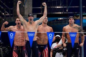 El equipo estadounidense de natación (Fuente: AFP)