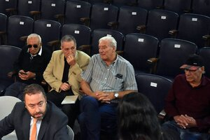 La imagen del inicio al juicio: Los acusados Aceituno, Curzio, Forcelli y Pallero. (Fuente: Télam)