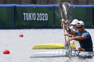 Agustín Vernice finalizó octavo en K-1 1000 metros en los Juegos Olímpicos (Fuente: AFP)