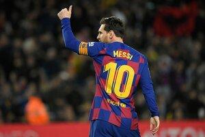 Capitán y figura. Una postal de Messi que ya no se verá en Barcelona. (Fuente: AFP)