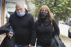 Marina Charpentier y su esposo declararon ayer por primera vez ante la Justicia. (Fuente: Télam)