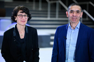 Ugur Sahin y Özlem Türeci, el matrimonio creador de la vacuna de Pfizer/BioNTech. (Fuente: AFP)
