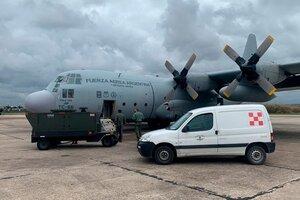 El Hércules de la Fuerza Aérea aterrizó en suelo cubano (Fuente: Télam)