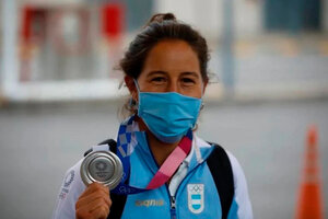 Sofía Maccari, con su medalla de plata de Tokio 2020