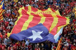 Diada en Barcelona. (Fuente: AFP)