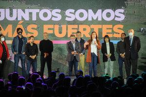 Vidal estuvo acompañada por sus competidores, Rubinstein y López Murphy. (Fuente: Guadalupe Lombardo)