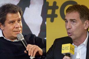 Los candidatos a diputados de Juntos Facundo Manes y Diego Santilli.