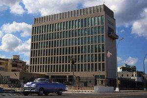 """La embajada de Estados Unidos en Cuba, donde originó versión de """"ataques sónicos"""". (Fuente: EFE)"""
