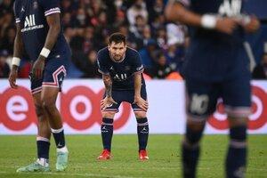 La salida de Messi ante el Lyon dio que hablar (Fuente: AFP)