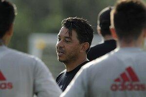 Gallardo preservará a algunos jugadores para el duelo con Boca (Fuente: Prensa River)