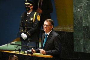 Bolsonaro abre la primera sesión de la Asamblea General de la ONU. (Fuente: AFP)