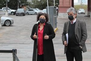 La ministra de Salud, Carla Vizzotti, y su par de Ciencia y Tecnología, Daniel Filmus. (Fuente: Bernardino Avila)
