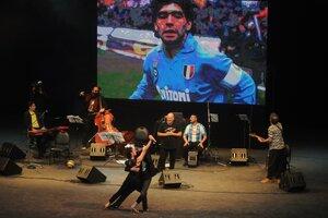 Quedó demostrado:gran parte del tango lleva a Maradona en el corazón. (Fuente: Guadalupe Lombardo)