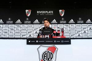 Gallardo dejó en claro que no se irá de River a mitad de campeonato (Fuente: NA)