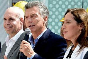 Jefe de Gobierno Horacio Rodríguez Larreta, ex presidente Mauricio Macri y ex gobernadora María Eugenia Vidal. (Fuente: Télam)