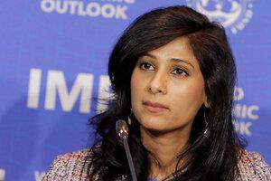 La economista jefa del Fondo, Gita Gopinath, presentó los resultados del WEO.