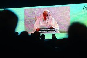El papa Francisco brindó un mensaje en el coloquio de IDEA. (Fuente: Télam)
