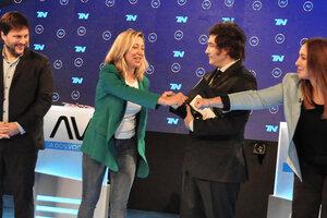 Candidatos Leandro Santoro, Myriam Bregman, Javier Milei y María Eugenia Vidal. (Fuente: Valeria Ruiz)