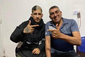 L-Gante y el intendente Elpidio Guaraz.