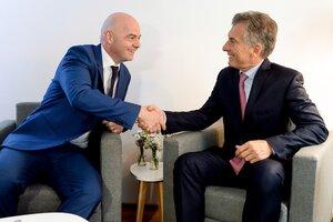 Infantino y Macri siguen haciendo negocios juntos (Fuente: NA)