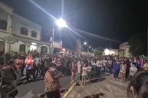 Movilización en Coronel Moldes (Fuente: Imagen gentileza de Sergio Gómez)