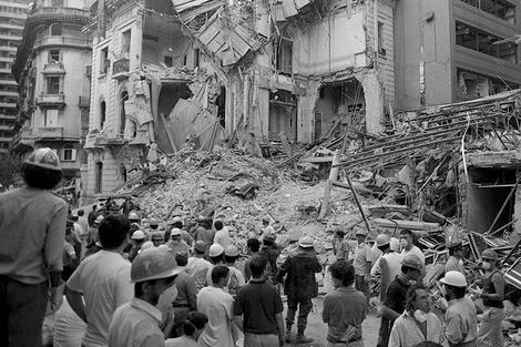 Pese al tiempo transcurrido desde el 17 de marzo de 1992 nunca hubo un detenido ni siquiera un sospechoso de haber participado del atentado. (Fuente: Télam)
