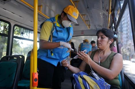 Quiénes pueden usar el transporte público y cómo tramitar el permiso. (Fuente: Sandra Cartasso)