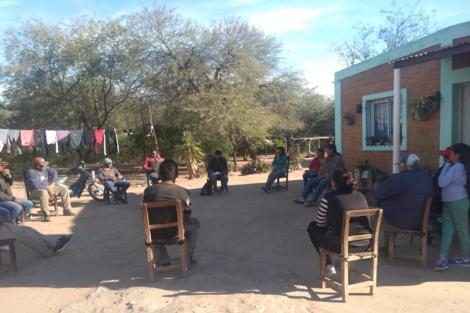 La reunión del 18 en el paraje El Retiro.