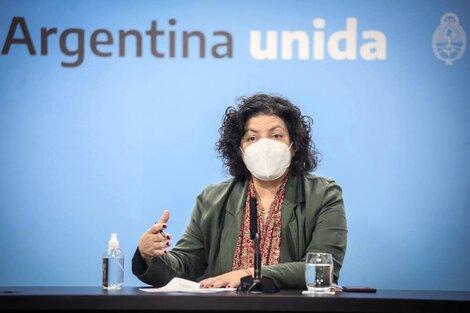 Junto al ministro del Interior, Eduardo De Pedro, la ministra de Salud encabezará el encuentro con los gobernadores este lunes a partir de las 18. (Fuente: NA)