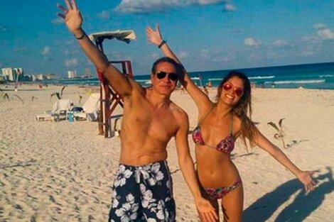 Nisman y Cocucci en la playa, en uno de los viajes que pagaba el fiscal.
