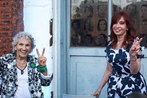 La foto con LIta Boitano que compartió CFK. (Fuente: Twitter Cristina Fernández de Kirchner)